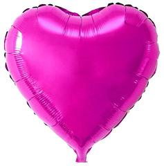 Воздушный шар Сердце (Пурпурное)