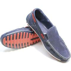 Мужские туфли мокасины Faber 142213-7 Navy Blue.