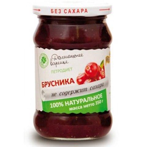 Варенье Домашнее Петродиет на фрукт Брусника 350г