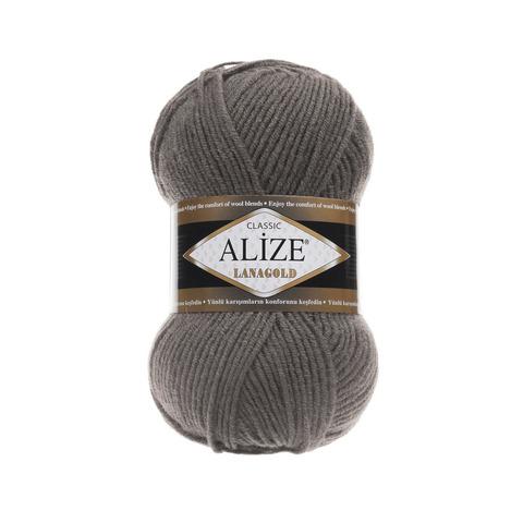Пряжа Alize Lanagold 348 темно-серый