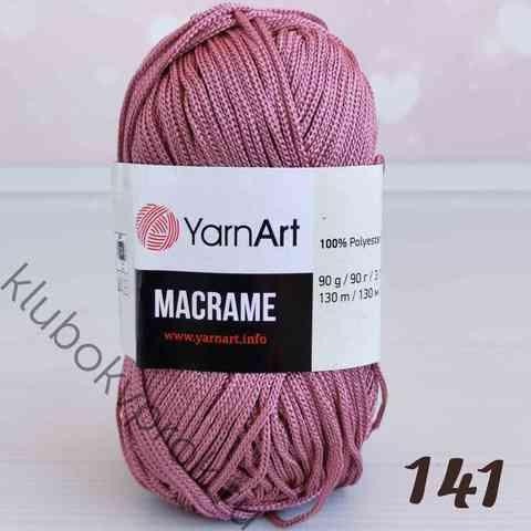 YARNART MACRAME 141, Пыльный розовый