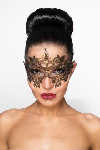 Золотистая карнавальная маска  Шеретан
