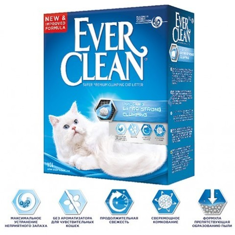 Наполнитель Ever Clean Extra Strength Unscented 10 л