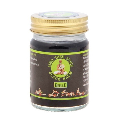 Тайский черный бальзам MHO SHEE WOKE, 50 гр.