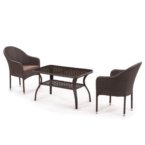 Комплект плетеной мебели ST20B/S20B-1 Brown 2Pcs