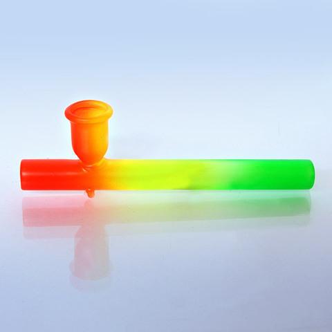 Трубка Радуга Цветное стекло, L~10,5 см Индия