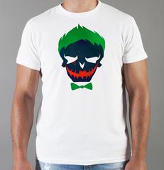 Футболка с принтом Джокер, Отряд самоубийц (Joker, Suicide Squad, Джаред Лето) белая 0018