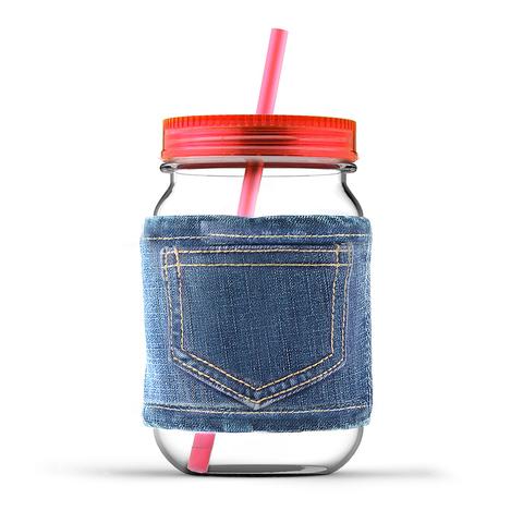 Кружка Asobu Jeans jar (0,75 литра), красная