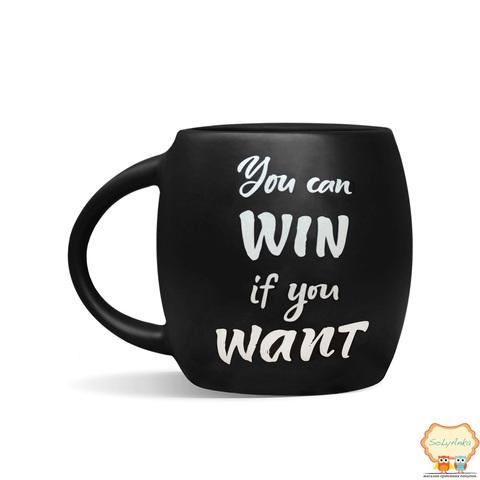 Чашка You can win чорна