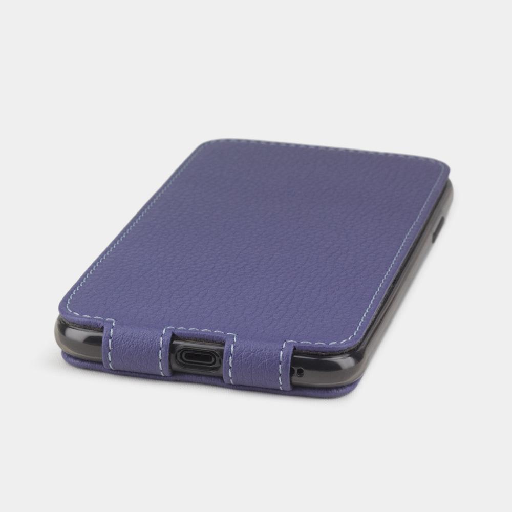 Чехол для iPhone X/XS из натуральной кожи теленка, цвета сирени
