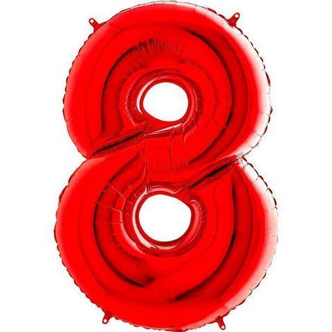 Фольгированная шар цифра 8