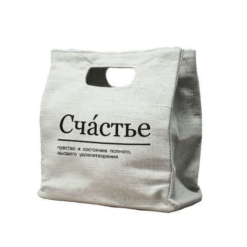 Экосумка City-bag Счастье, 34х33х14,5 см