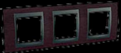 Рамка на 3 поста. Цвет Венге-графит. Schneider electric Unica Top. MGU66.006.2M3
