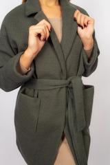 Зеленое трикотажное пальто Nadya