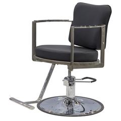 Парикмахерское кресло Хилтон гидравлика хром, круг хром со съемной подножкой