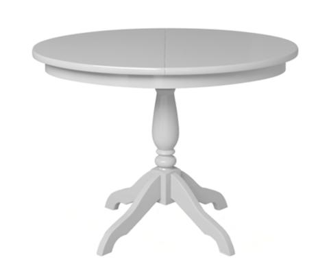 Стол обеденный Романс деревянный овальный раскладной белая эмаль