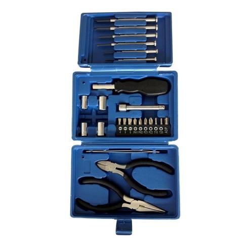 Набор инструментов Stinger, 26 предметов, в пластиковом кейсе, синий