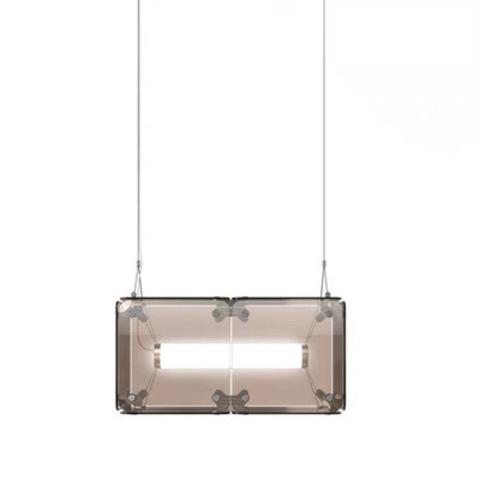 Подвесной светильник копия Hyperqube by Felix Monza (2 плафона, янтарный)