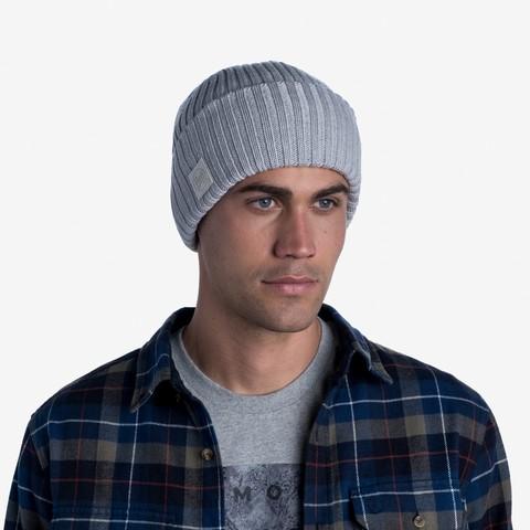 Вязаная шерстяная шапка Buff Hat Wool Knitted Ervin Light Grey фото 2