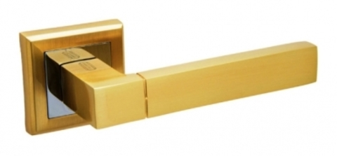 Ручка раздельная  А-202 SB матовое золото квадратная