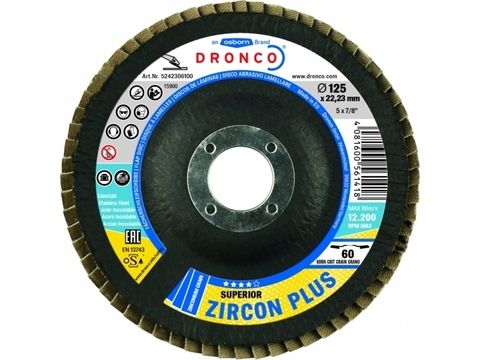 Лепестковые шлифовальные диски  Superior Zircon Plus 40 Bomb 125x22,23mm