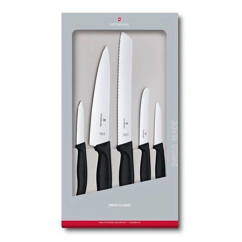 Набор ножей для кухни Victorinox Swiss Classic Kitchen (6.7133.5G) 5шт черный в коробке