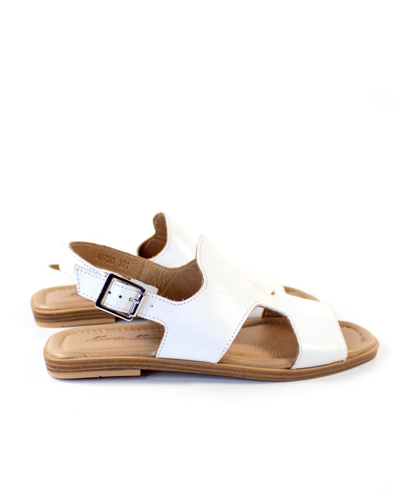 белые босоножки Mario Muzi