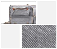 Сумка-рюкзак трансформер для художественных принадлежностей, парусина, серый цвет