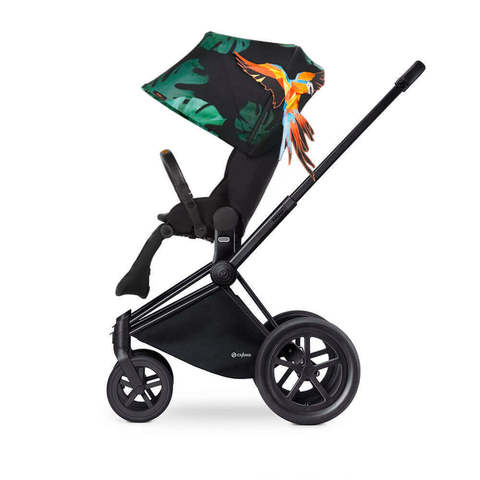 Прогулочная коляска Cybex Priam Lux Birds of Paradise шасси Matt Black/All Terrain