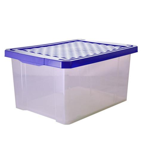 Ящик полипропиленовый Optima прозрачный с крышкой 405х305х210 мм