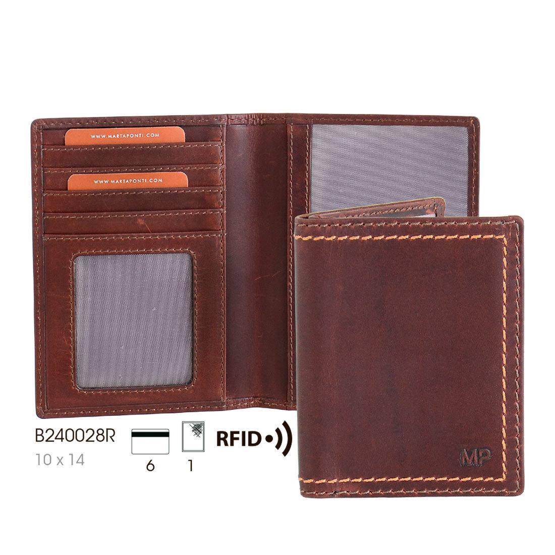 B240028R P Cast/Camel - Обложка для паспорта с RFID защитой MP