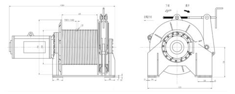 Электрическая лебедка с тяговым усилием 5 тс
