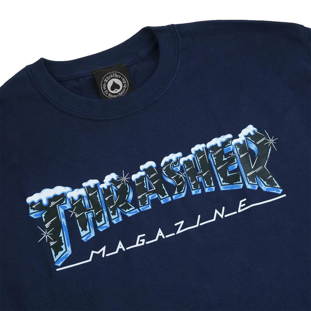 Футболка THRASHER Black Ice (Navy)