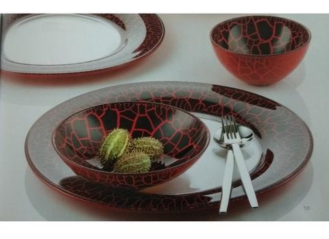 Блюдо круглое, артикул 81402. Серия Red Leopard