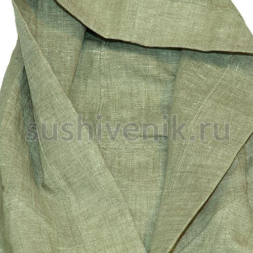 Льняной халат с капюшоном