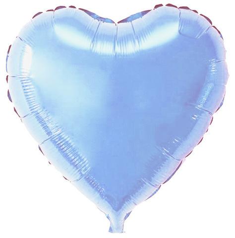 Воздушный шар Сердце (Голубое)