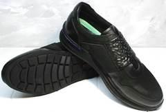 Кроссовки кожаные мужские Luciano Bellini 1087 All Black