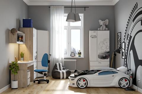 Кровать-машинка объемная (3d) EVO