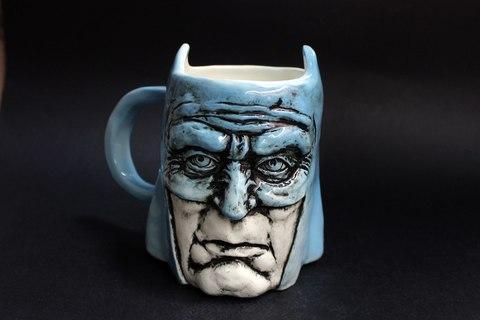 Бэтмен. Керамическая кружка ручной работы