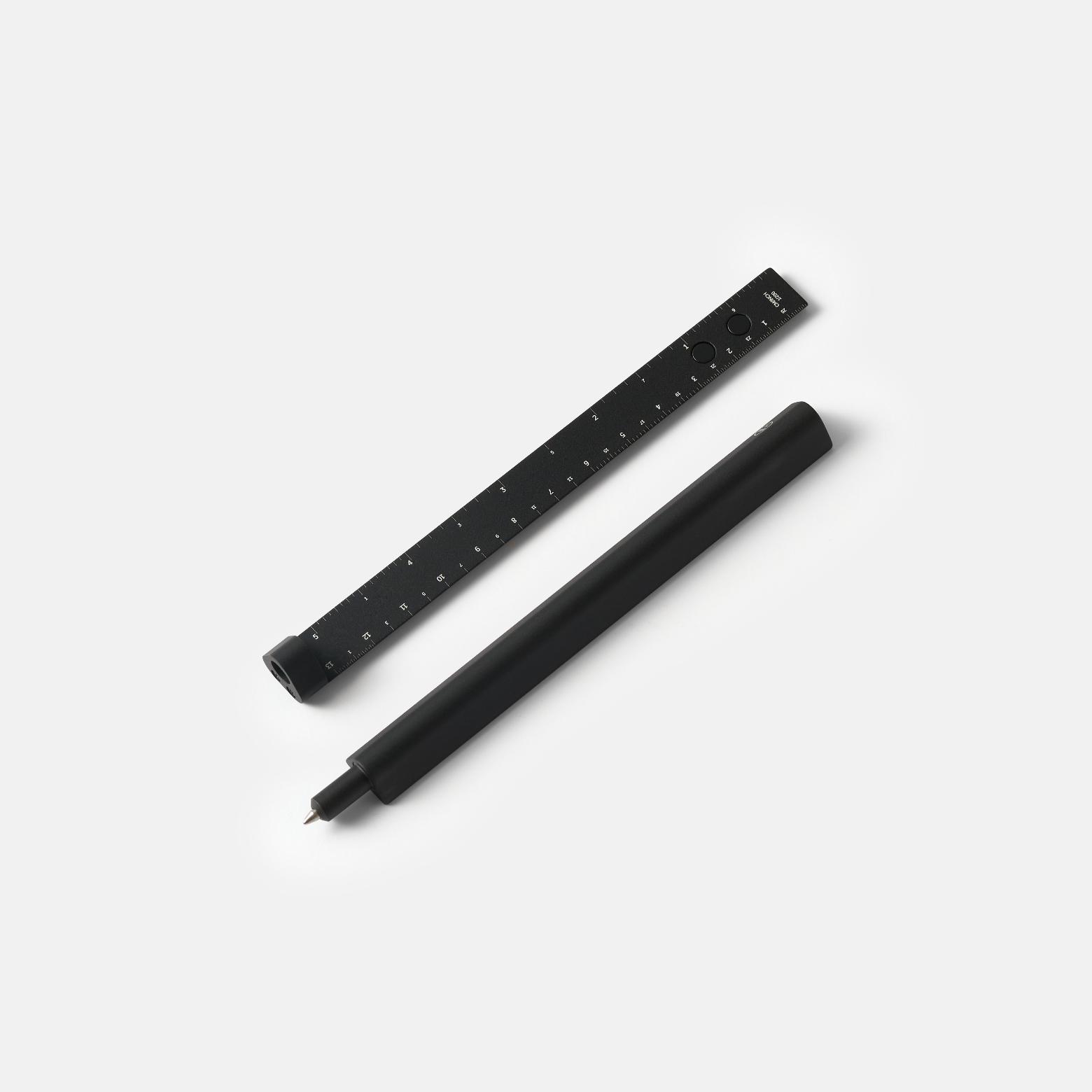 HMM Slide Black — ручка-линейка