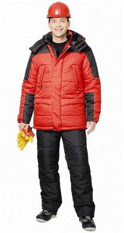 Костюм Красный с черным куртка, брюки