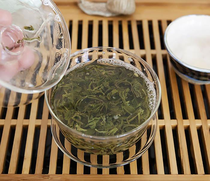 TEA-CH105 Зеленый китайский чай «Облачный Туман» ( Юнь У, 50 гр) фото 09