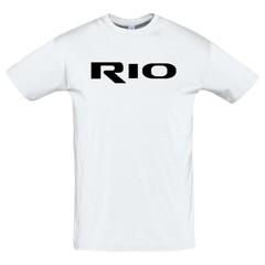 Футболка с принтом КИА РИО (KIA RIO) белая 3