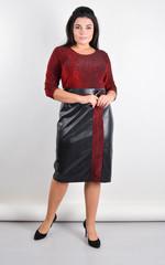 Лідія. Сукня плюс сайз для свята. Червоний.