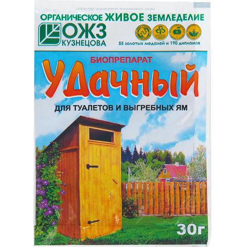 Удачный – биопрепарат для туалетов и выгребных ям – 30 г