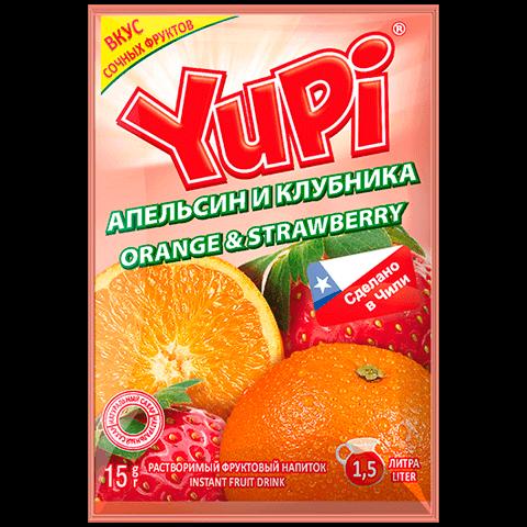 Растворимый напиток Yupi апельсин клубника 15 г