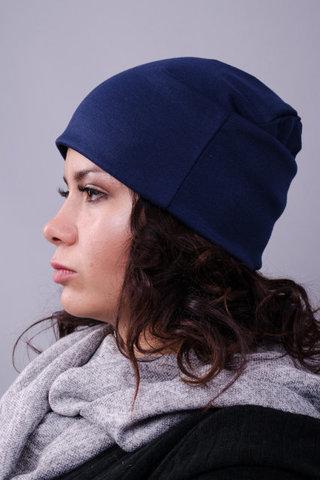 Фэшн. Молодёжные женские шапки. Синий.