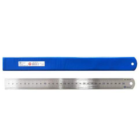 Линейка КОБАЛЬТ 300 ? 28 ? 0.7 мм, нерж.сталь (243-370)