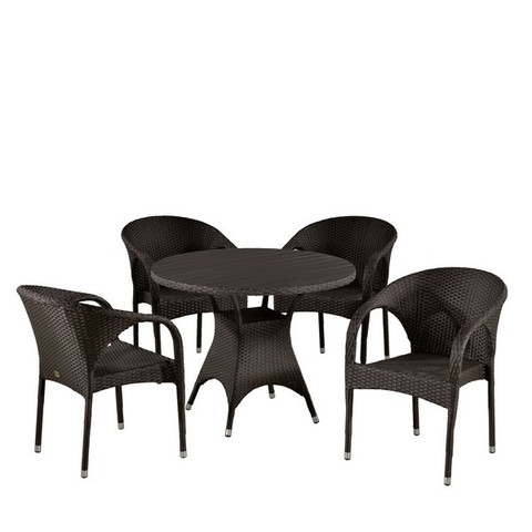 Комплект плетеной мебели T190AD/Y290B-W52 Brown 4Pcs