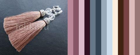 пример возможных цветовых сочетаний серёг с одеждой